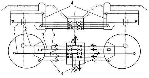 Схема коммуникаций резервуара