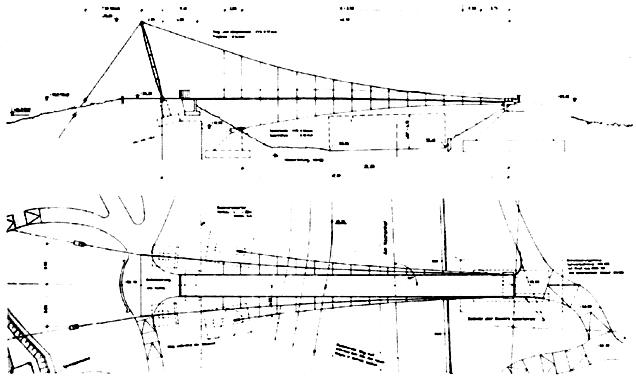 Схема пешеходного моста