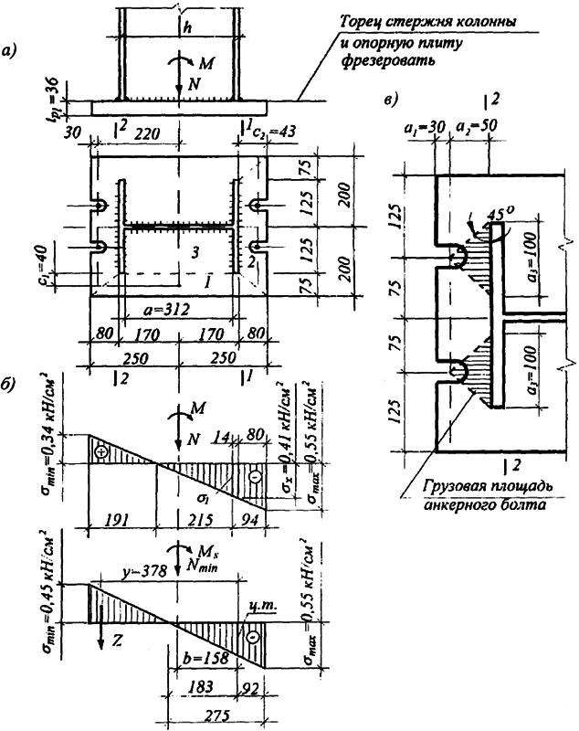 База колонны бескранового