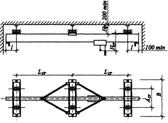 Схема подвесного крана