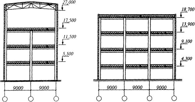 Схемы многоэтажных зданий