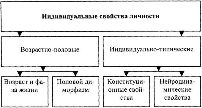 Схема свойств человека