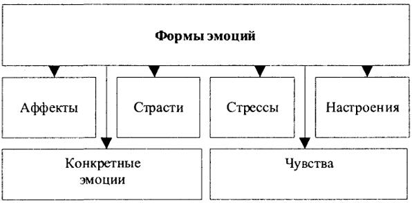 Схема 126. Формы эмоций